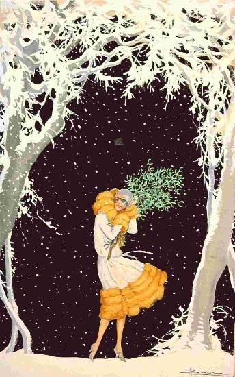 Cartoline Di Natale Anni 30.Arteraku It Auguri Dalla Belle Epoque Bozzetti Originali